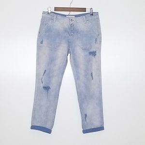 Free People Distressed Boyfriend Jeans